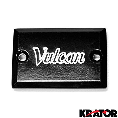 Krator Kawasaki Vulcan 900 / 2000 Black Billet Fluid Reservoir Cap Logo Engraved (2004-2012)