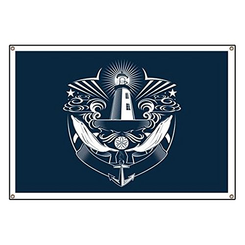 Lighthouse Banner (Banner Lighthouse Crest Anchor)
