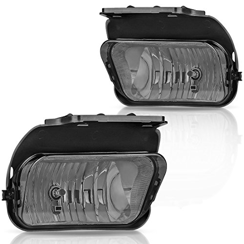 AUTOSAVER88 Fog Lights for Chevy Silverado 2003 2004 2005 2006 2007 All Models Avalanche 2002 2003 2004 2005 2006 Without Body Cladding (OE Style Smoke Lens w/Blubs)