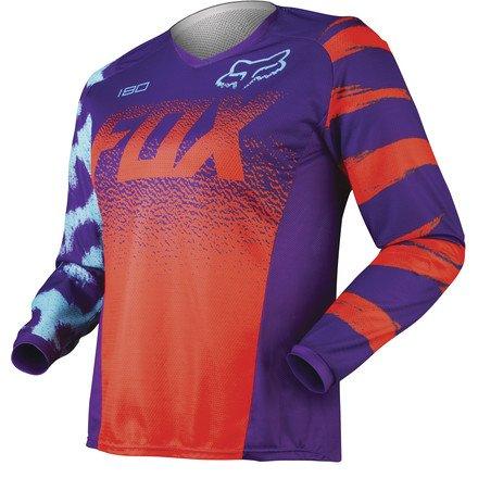 Fox Racing 180 Women's Off-Road Motorcycle Jerseys - Orange / Medium
