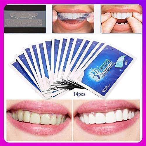 28pcs/14Pair 3D Teeth Whitening Strips Dental Whitener Tools Teeth Veneers White Gel Whitestrips Dental Whitening tooth Smile Veneers