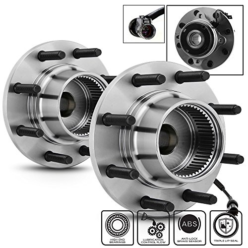Excursion 4WD W/ABS 515020 Pair of 8-Bolt Front Wheel Hub and Bearing Assembly ()