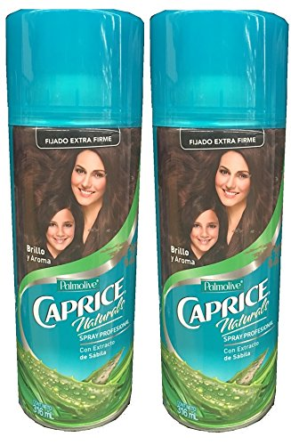 Set of Two Palmolive Caprice Fijado Extra Firme 316 ml Con Extracto de Sabila Hair Spray Caprice Set