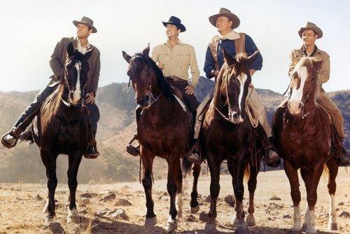 Sons Of Katie Elder Poster John Wayne Dean Martin & Cast On Horseback