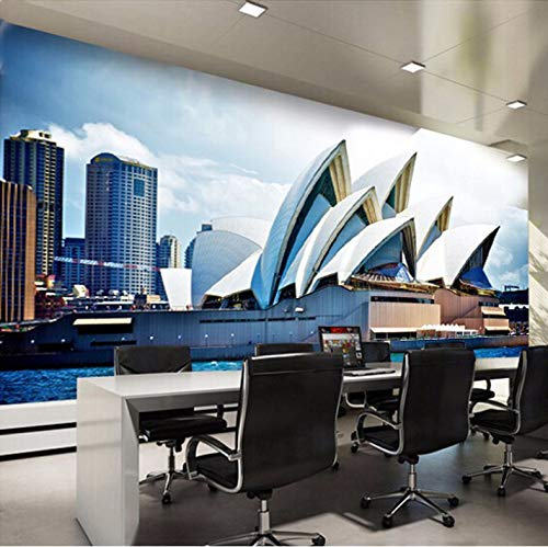 (3D Wall Decorations Stickers Wallpaper Murals Sydney Opera House Scenery Pattern Backdrop Art Kids Room (W)200x(H)140cm)