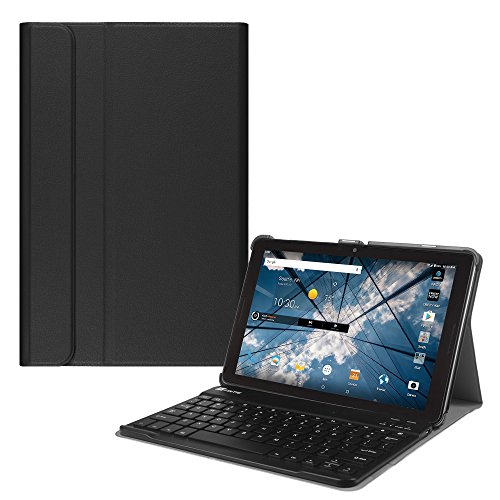 Fintie At T Primetime 10 Inch Tablet Keyboard Case   Slim Shell Stand Cover With Magnetically Detachable Wireless Bluetooth Keyboard For Att   Zte Primetime K92 10  Tablet 2017 Release  Black
