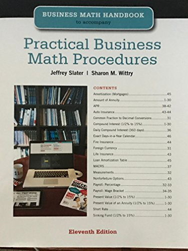Practical Business Math Procedures Eleventh Edition