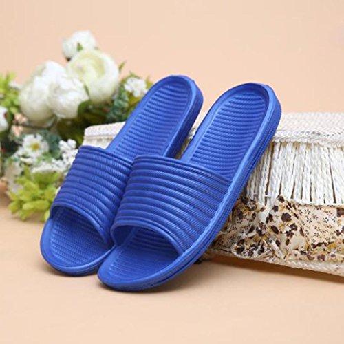 Sikye Male Sommer Flip Flops Mann Streifen Flat Bad Schuh Indoor & Outdoor Hausschuhe Blau