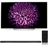 LG OLED55C7P 55 OLED 4K UHD HDR Smart TV with SJ8 4.1 Channel High Resolution Audio Soundbar with Wireless Subwoofer