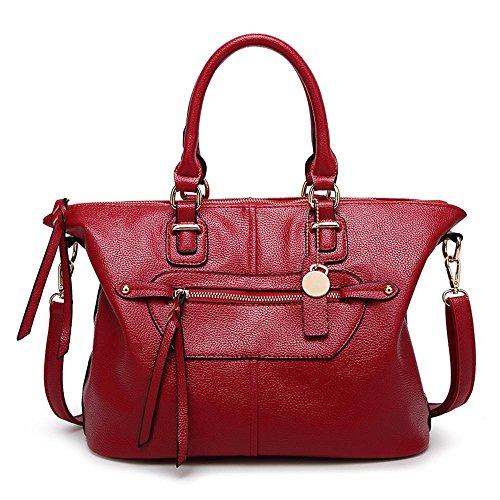 Red bolso 33cmx17cmx25cm Penao Bolso Retro de manera Dama solo tamaño hombro del Mensajero de la n6nxFqwIA