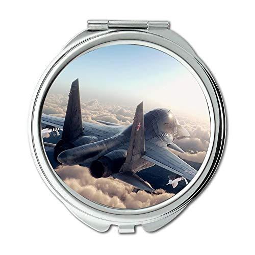 Yanteng Fighter Plane,Mirror,Travel Mirror,Fighter Aircraft,Pocket Mirror,Portable -