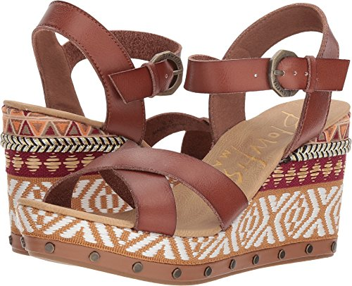 Blowfish Tickle-B Clay Dyecut PU Womens Wedge Sandals Size 7.5M