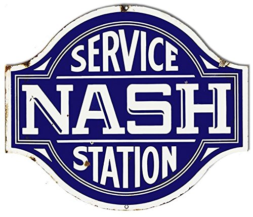 Garage Art Signs Nash Service Station Laser Cut Out Reproduction Sign 20x23