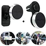 "Magnetic Phone Car Mount,OHLPRO Universal Phone Holder Stick On Car Dashboard and Air Vent Mount,Metal Aluminum Frame,360°Adjustable Rotating,for iPhone Samsung Sony Google All 4""- 6"" Smartphones"