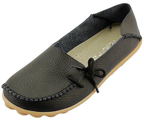 Summerwhisper Comfortabele Dames-schoenen Damesslof Instapper Loafers Bootschoenen Flats Zwart