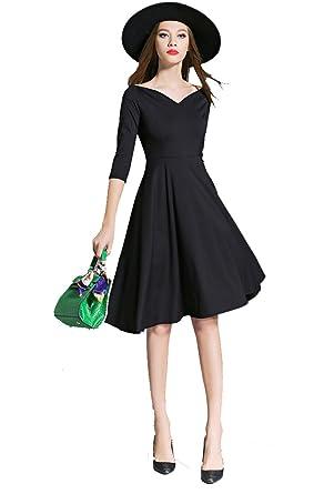 Kleid mit carmen aubchnitt schwarz