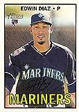 Edwin Diaz baseball card (Seattle Mariners Closer) 2015 Topps Heritage #559 Rookie