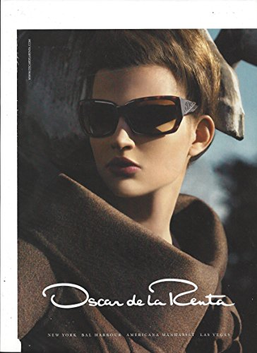 PRINT AD For Oscar De La Renta Brown Frame - Glasses Frames Oscar