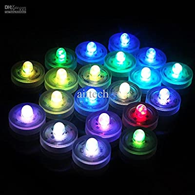 Party Lovers Decoration Submersible Underwater Flameless Waterproof LED Tealight Candle - Battery Powered - Multi Color (2 Dozen)