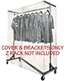 Clear Z Rack Cover with Zipper and Square Tube Bracket Combo Kit for Standard, Professional or Deluxe 5' Wide Z Racks (Z Racks Sold Separately)