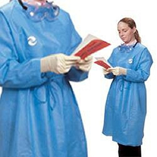 Covidien CT5101 Kendall Splash Resistant Protective Gown, X-Large, Blue (Pack of 30)