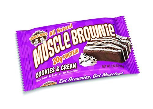 Lenny & Larry's Muscle Brownie Brownies Cookies & Cream - 12 Count by Lenny & Larry's