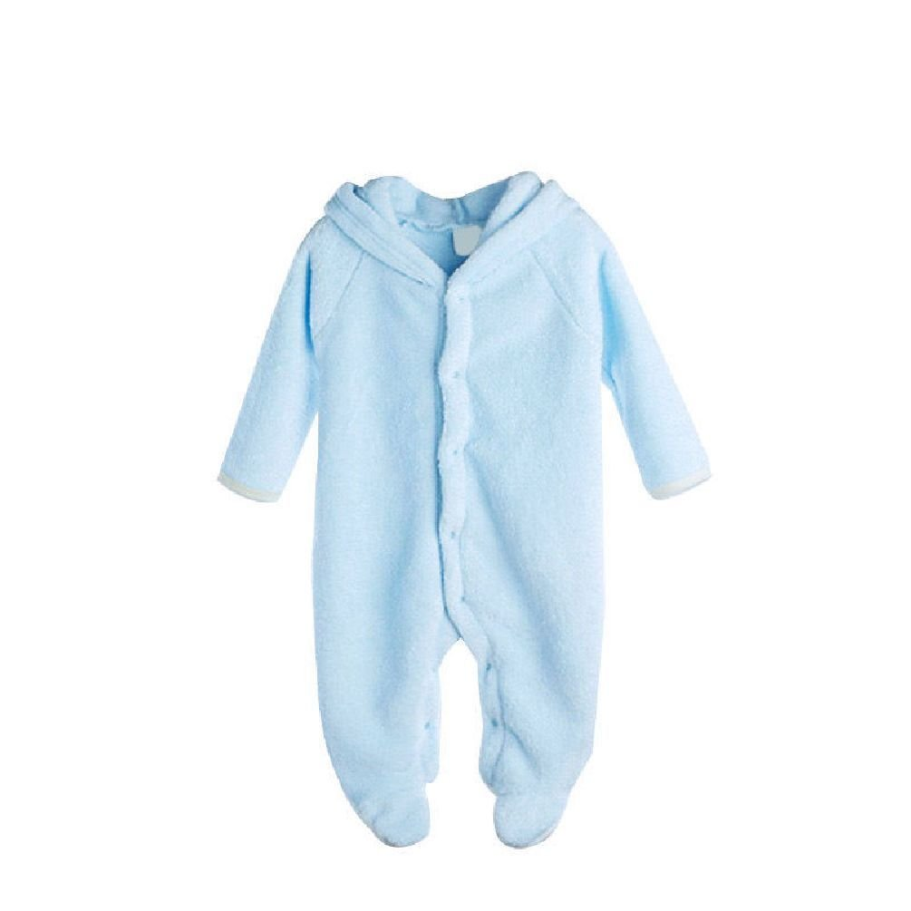 Jewelryfinds 0~12Mborn Baby Infant Cute Boy Girl Warm Romper Hooded Jumpsuit Sleep Outfit