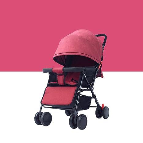 QARYYQ Cochecitos de bebé Carro reclinable Plegable, Ultraligero ...