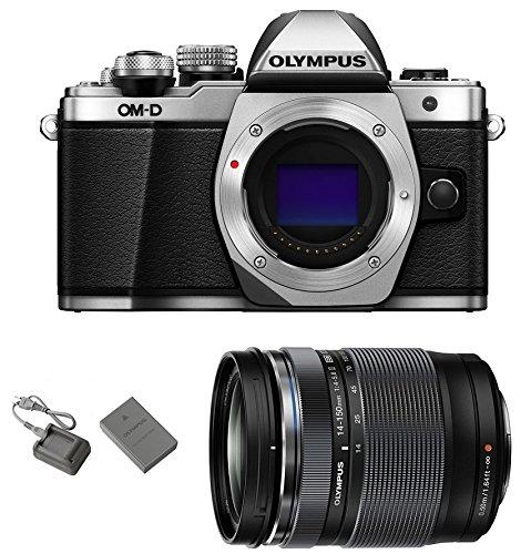 Olympus OM-D E-M10 Mark II Mirrorless Micro Four Thirds Digital Camera (14-150mm Lens, Silver)