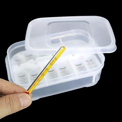 Amyove Incubadora, incubación de huevos de 12 hoyos con termómetro, Herramienta de incubación de