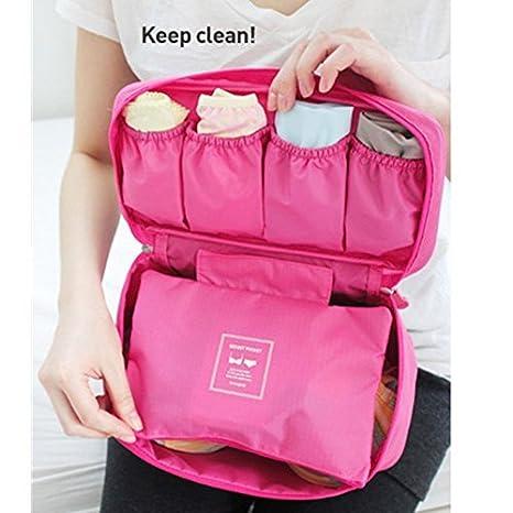 Bolsa de viaje COFCO para ropa interior, color rosa fuerte