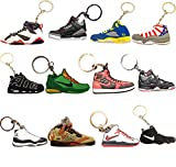 (#AJ-Pack12) Jordan Basketball Sneakers Keychain Ringkey Collection Value Pack