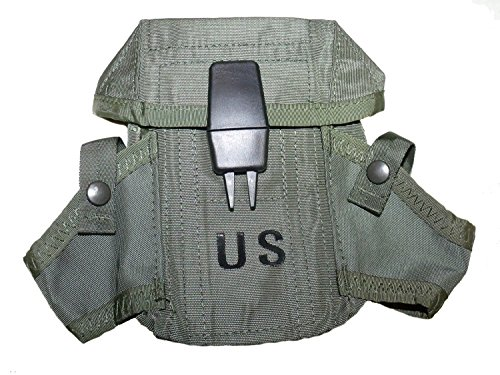 NEW US Army Military Ammunition Ammo OD Olive Drab Green 300 Round Magazine M16 Rifle Hand Grenade LC-1 SMALL ARMS CASE Pouch with Alice Clips by US Goverment GI USGI (Air Force Sage)