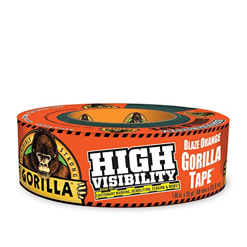 "Gorilla Tape, High Visibility Duct Tape, 1.88"" x 35 yd, Blaze Orange, (Pack of 1)"