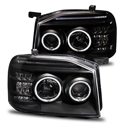 SPPC Black Projector Headlights CCFL Halo For Nissan Frontier - (Pair)