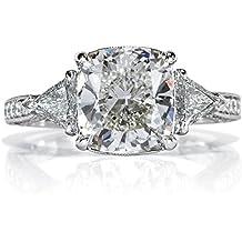Mark Broumand 3.95ct Cushion Cut Diamond Engagement Ring