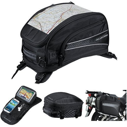 Nelson-Rigg CL-2015-ST Black Strap Mount Journey Sport Tank Bag,  CL-GPS-MG Black Magnetic Mount Journey GPS Mate,  CL-1060-S Black Sport Tail/Seat Pack,  and  (CL-855) Black Touring Adventure Saddlebag Bundle