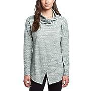 Danskin Womens Wrap Long Sleeve Yoga Cardigan (Medium, Pine Grove)