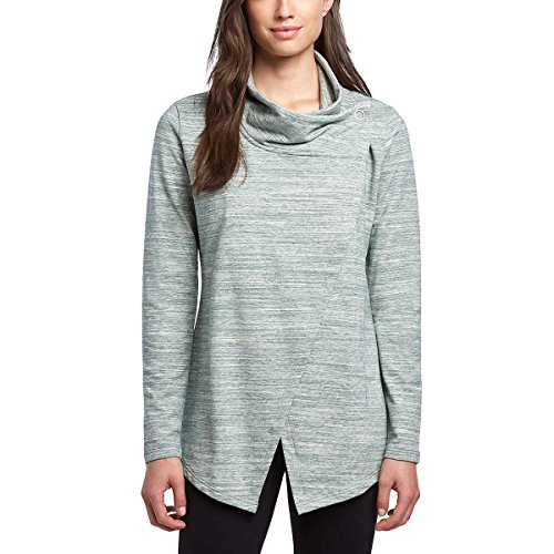 Danskin Women's French Terry Bliss Wrap (Pine Grove, X-Large) (Cardigan Cotton Wrap)