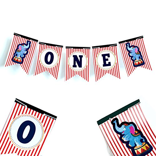 Carnival High Chair Banner Circus Birthday ONE Banner First Birthday ONE High Chair Banner 1st Birthday Banner Party Decorations Circus Party Supplies 1st Birthday Decorations