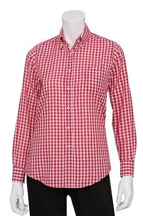 Chef Works Women's Gingham Dress Shirt (W500) D500-PARENT