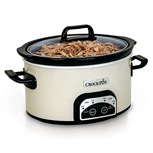 Crock-Pot Smart-Pot 4-Quart Digital Slow Cooker, White, SCCPVP400