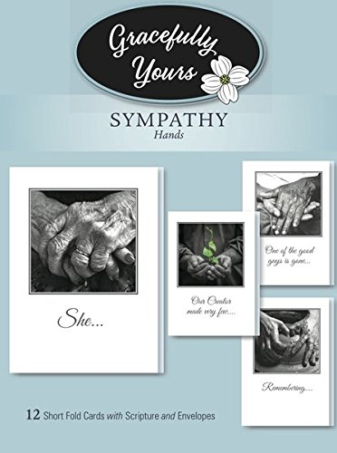 Amazon gracefully yours sympathy cards using hands greeting gracefully yours sympathy cards using hands greeting cards 12 4 designs3 each m4hsunfo