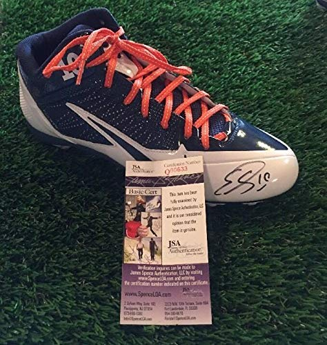 Emmanuel Sanders Autographed Signed Nike Alpa Pro Football Cleat Shoe Memorabilia - JSA Authentic