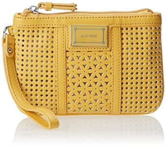 Nine West Showstopper Slg Wristlet Wallet,Sunglow Yellow,One Size