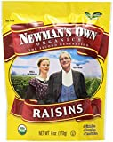 Newman's Own Organics California Raisins, 6-Ounce Pouches (Pack of 12)