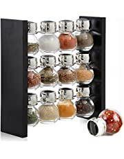 12 Bottles Spice Rack Stand Holder - Sleek & Attractive Stand holder Keep a Dozen Flavors Close at Hand (Spices Not Included)