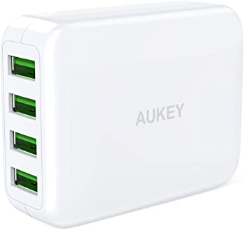 Aukey Sale:4-Port USB Wall Charger/Bluetooth Speaker from $11.96