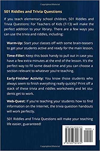 Amazon.com: 501 Riddles and Trivia Questions: For Teachers of Kids ...