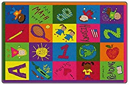 Primary Pictures Kids Area Rug 4\'x6\'